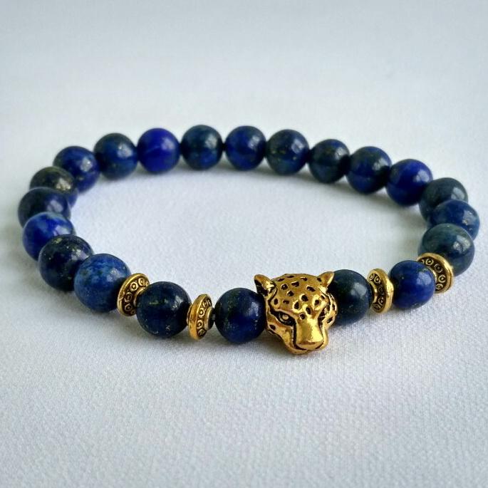 Будда - браслет из вулканической лавы #1