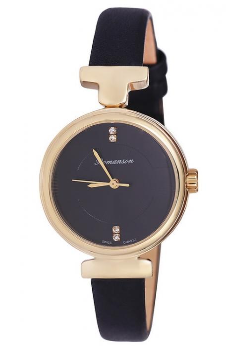 Женские часы Romanson RL6A05LLGD BK